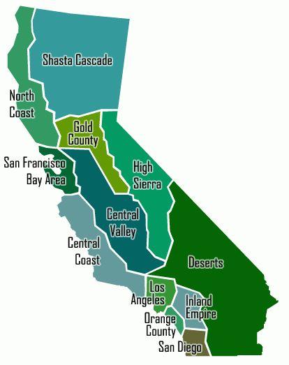 Map of California's Regions