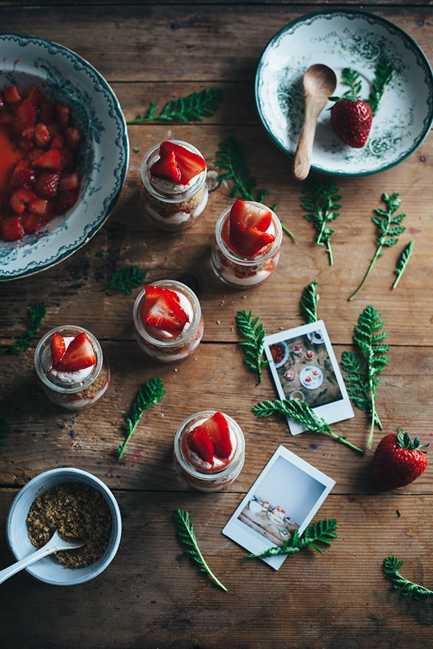 Strawberry cheesecake jars for Now you're cooking