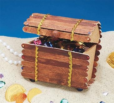 Larger image for Treasure Chest Craft Kit (makes 12) $2.33 each - Book 2