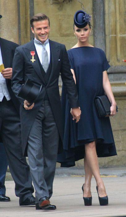 The Beckhams at the Royal wedding