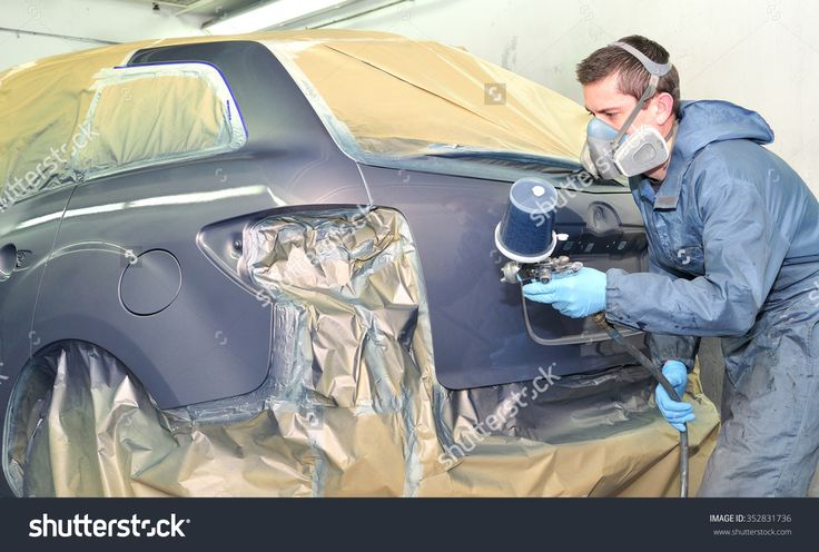 Professional Car Painting After Body Repair. Fotka: 352831736 : Shutterstock