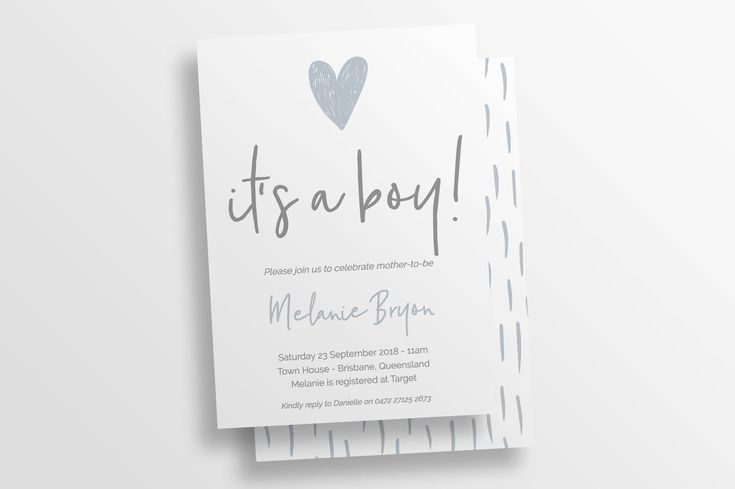Excited to share the latest addition to my #etsy shop: Baby Boy Shower Invitation | Printable Baby Shower Invite Template | TEMPLETT INSTANT DOWNLOAD | It's a girl | It's a boy | Hearts 116987