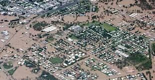 Arial view of inundation. 2013 Queensland Floods