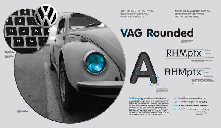 VAG Rounded Volkswagen AG 1979 Sans Serif