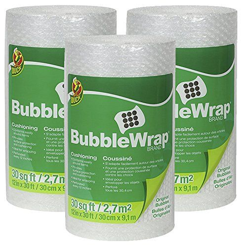 Duck Brand Bubble Wrap Original Protective Packaging SFErx 3Pack 12 in. x 30 ft.