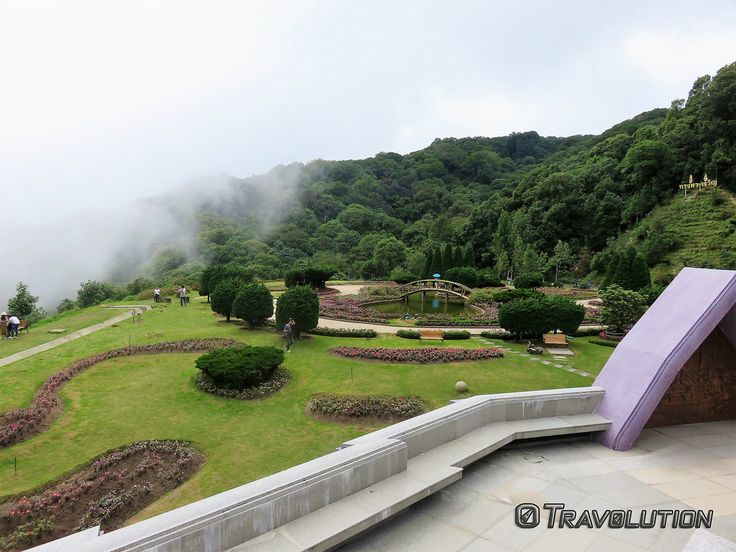 Travolution360 posted a photo:  Kings & Queens Pagoda Gardens, Doi Inthanon National Park, Thailand  www.travoltion360.com