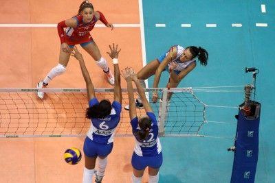 Bosetti in attacco - foto cbv.com.br