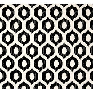 This is a black and white geometric Ikat design outdoor fabric by Swavelle Mill Creek Fabrics, suitable for any decor. Perfect for pillows, cushions and furniture.v112ANF