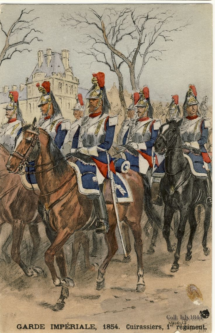 1er Régiment de Cuirassiers, 1854 | Uniforms and History ...