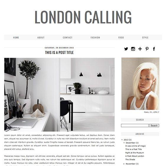 Blogger template london calling shops london und minimal for Minimalist decor blog