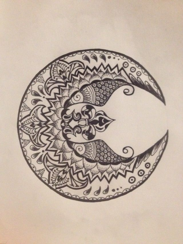 Beautiful moon tattoo design