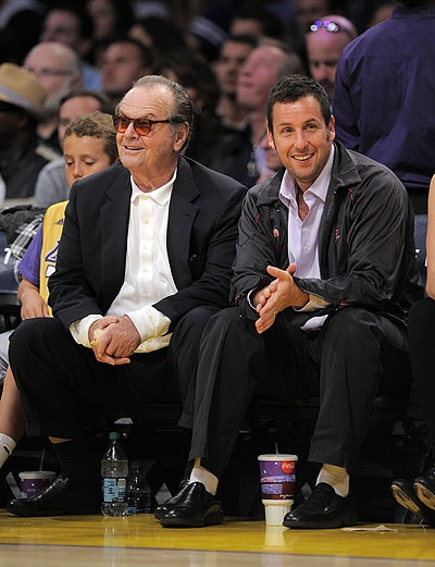 Jack Nicholson Courtside Through The Years Photo Gallery Jack Nicholson Adam Sandler Nicholson