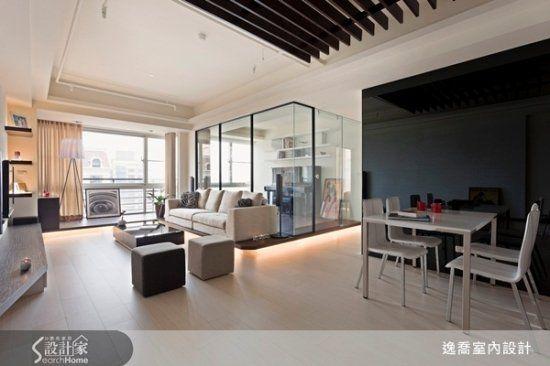 28坪小家庭的開放式設計,自然陽光灑落的舒適窩!!
