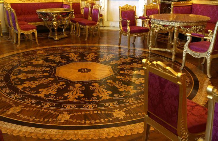 Pięknie zdobione podłogi. Pałac Jusupowów, Sankt Petersburg, Rosja. Fot. Jan Gołąb