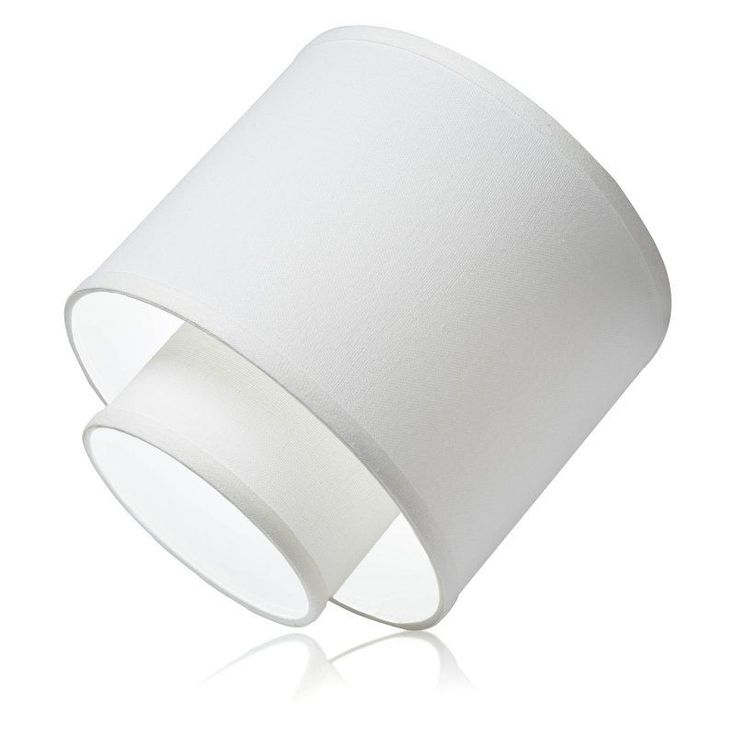 ezclipse white linen magnetic drum recessed light shade