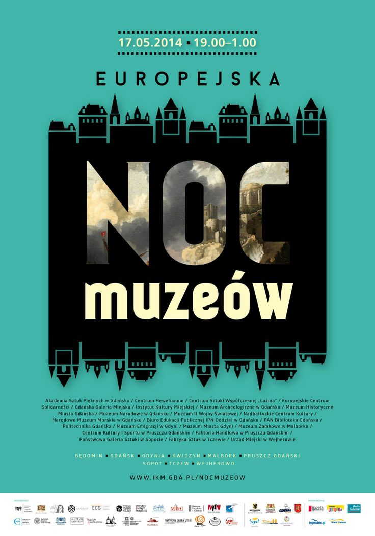 Europejska Noc Muzeów 2014 / European Night of Museums 2014, projekt/design: Joanna Michniewska