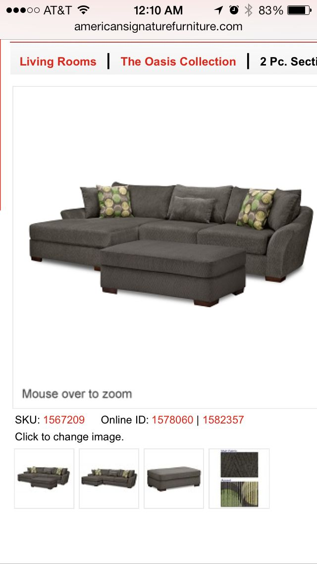 Oasis Sectional from American Signature