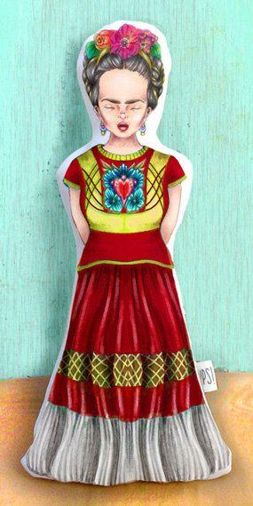 Muñeca FRIDA - FRIDA doll de JessicaIlustradora en Etsy