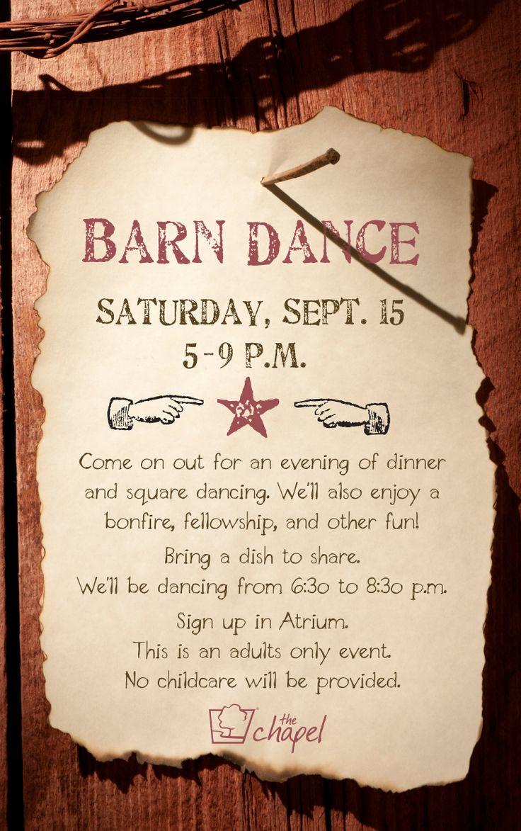 Barn Dance Flyer Graphics I Created Barn Dance Dance