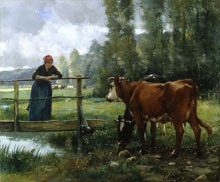 """Julien Dupré (1851 - 1910) """"Paturage"""""""