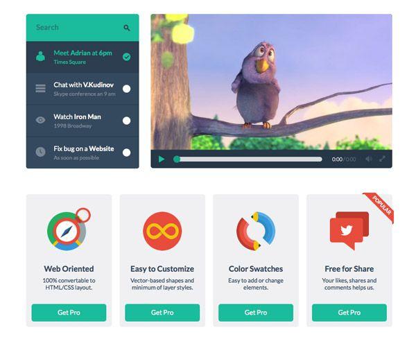 20 Free UI Kits U0026 Icons For Your Flat Web Designs