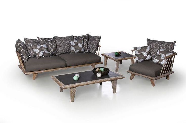 RECLAIMED  LOUNGE SERIE HUG-ME  3-SITZER SOFA  LOUNGE SESSEL LOUNGE TISCH