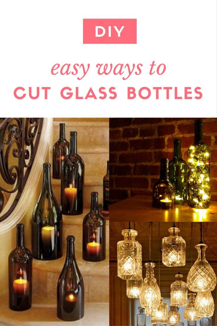 Best 25 cutting glass bottles ideas on pinterest diy for Easy way to cut wine bottles