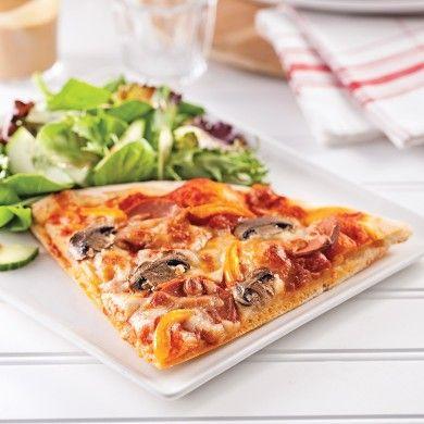 Pizza minceur toute garnie - Recettes - Cuisine et nutrition - Pratico Pratique