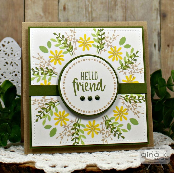 GKD February 2018 Release.  Card by Sheri Gilson.  Features Wreath Builder Mini Kit by Gina K. Designs. http://www.shop.ginakdesigns.com/product.sc?productId=3154&categoryId=16