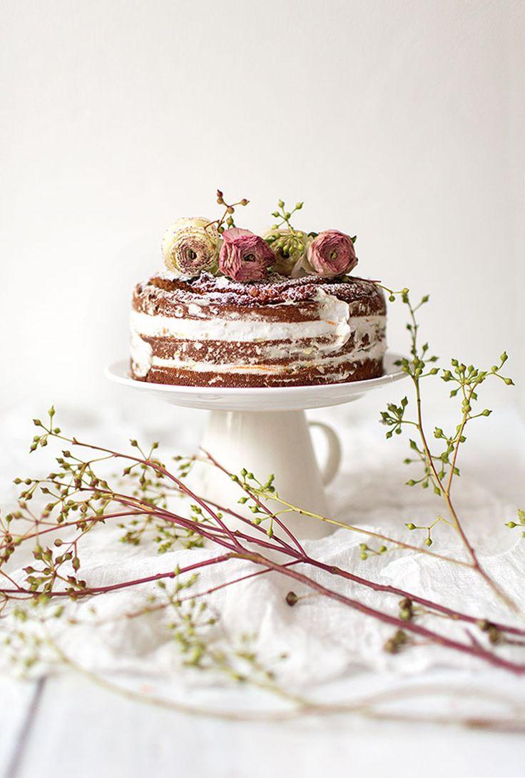 ... naked champagne orange cake with orange blossom chia jam and orange coconut whipped cream ...
