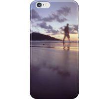 Man walking on beach dusk sunset evening sky Hasselblad medium format film analogue photograph iPhone Case/Skin