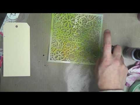 ▶ Lindy's Stamp Gang 101 Tutorials - Spraying with Stencils - YouTube