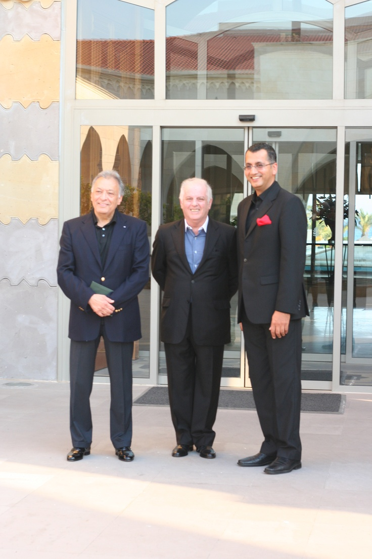 Famous conductor Zubin Mehta with our General Manager Puneet Singh in Kempinski Hotel The Dome