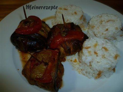 Auberginen Kebab mit Lammfleisch-Islim kebabi