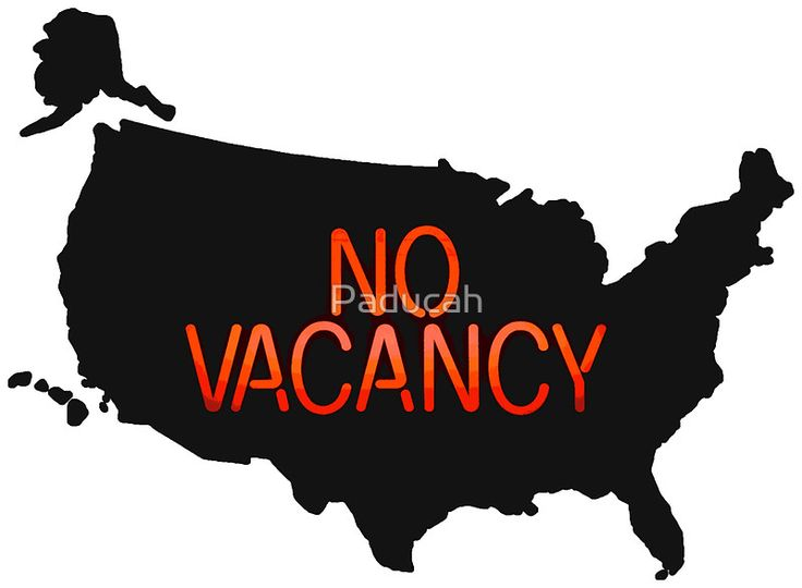 No Vacancy for Syrian Refugees in USA - Sign Republican Party - Anti ISIS T Shirts and Stickers