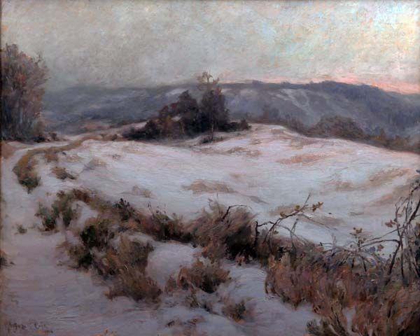 Marc Aurèle SUZOR-CôTé - Snow Effect on the Hills of Cernay (1906)