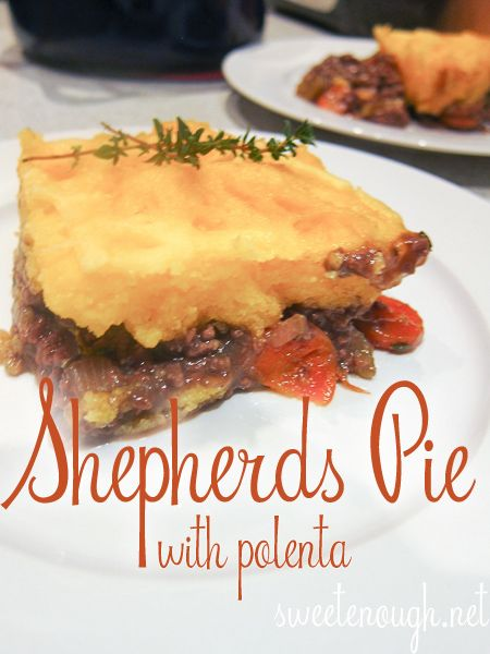 Shepherds Pie with Polenta. Hearty and warm, as well as quick easy!