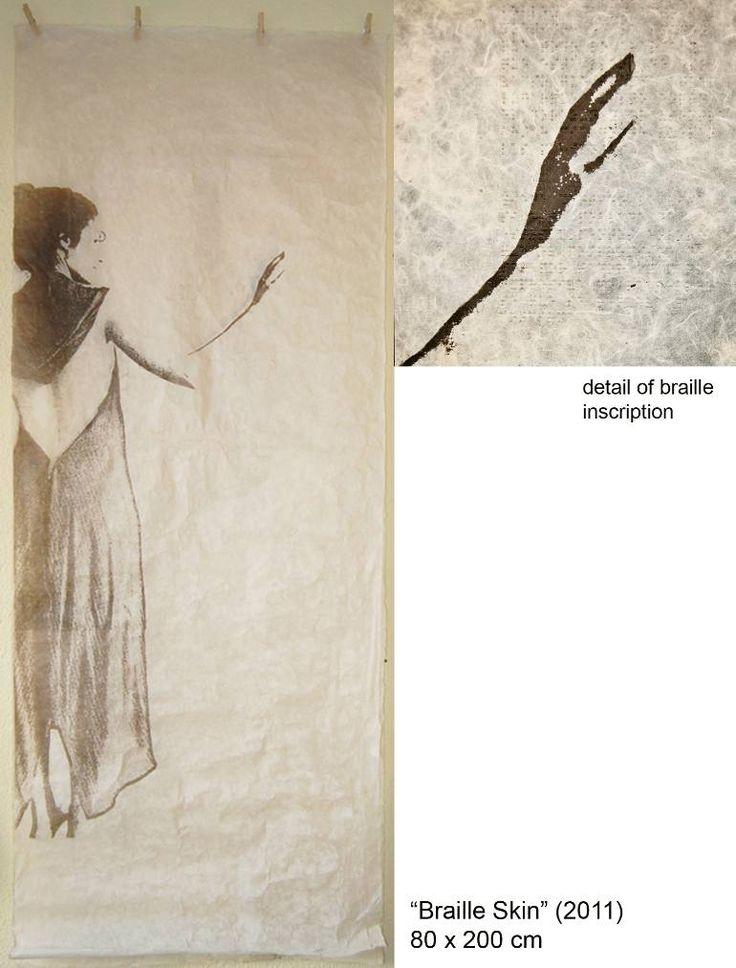 "Saatchi Art Artist Carolina Larrea; Printmaking, ""Braille Skin"" #art"