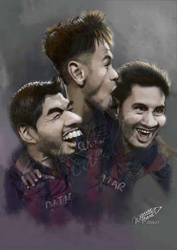 """Suarez Neymar Messi Barcelona"" #Creative #Art in #digital-art @Touchtalent http://bit.ly/Touchtalent-p"