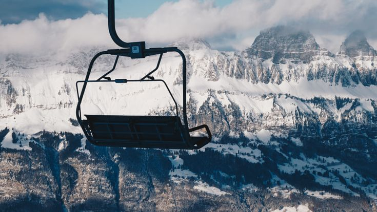 Front Row Seat - Shot from atop the mountain Flumserberg in wintery Switzerland.