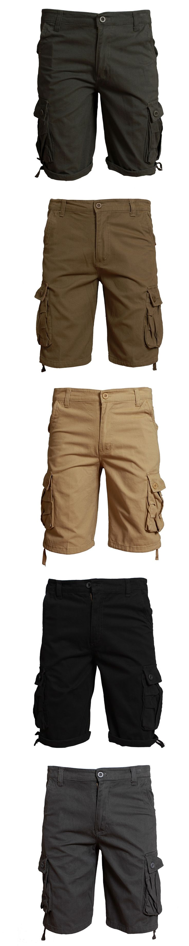 2017 Waterproof cargo military shorts Large size 30-44 thin material for summer short pants short masculino