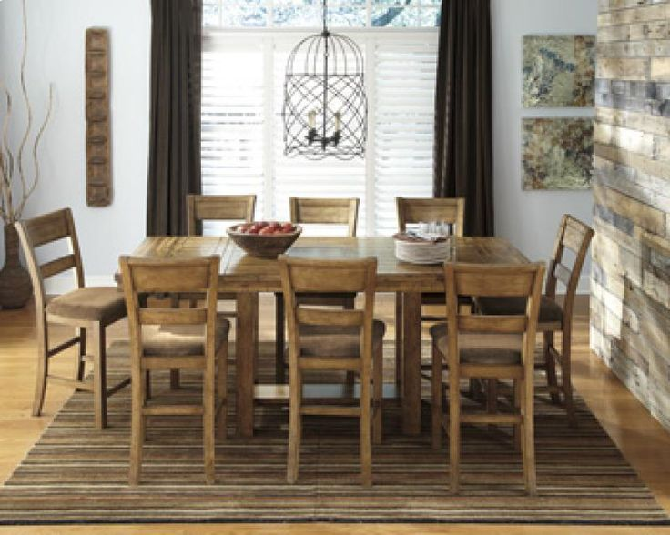 Signature Design By Ashley Krinden Rectangular Counter Height Extension Dining Table