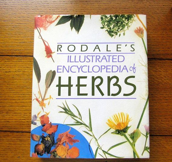 Herbs Illustrated Encyclopedia Vintage Rodale Book Plant Vintage Books Vintage Farmhouse Decor Vintage Paper