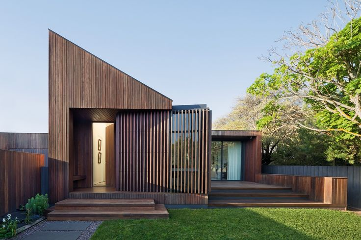 Coy Yiontis creates a steeply pitched contemporary home for a mature couple to enjoy into their retirement.