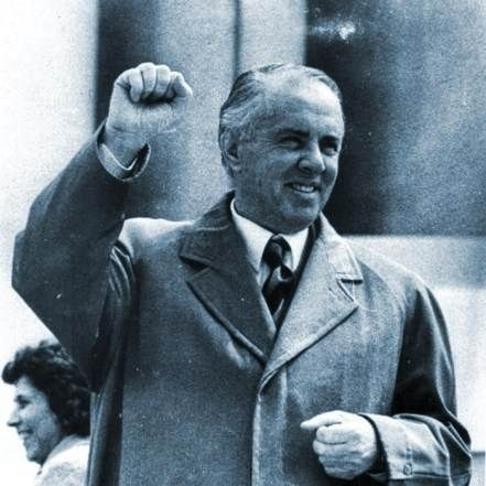Enver Hoxha (1908 - 1985)Longtime Communist president of Albania who closed the country to the outside world for 35 years, the isolation didn't end until after his death