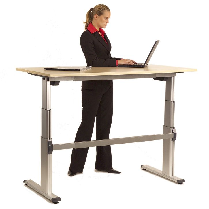 Acti Height Adjustable. The Acti Height Adjustable Office Desk is the affordable office furniture answer to creating an ergonomic environment free of productivity impediments like back aches and loss of concentration due to discomfort. The worktop height moves from 680mm through to 1200mm above floor level, motorised movement is available.