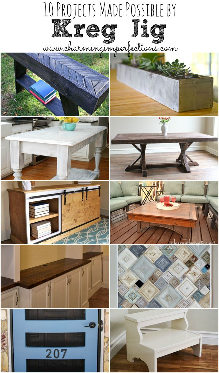 Here are 10 very cool projects made possible by a kreg jig. This handy tool will open up a world of possibilities for your DIY projects.