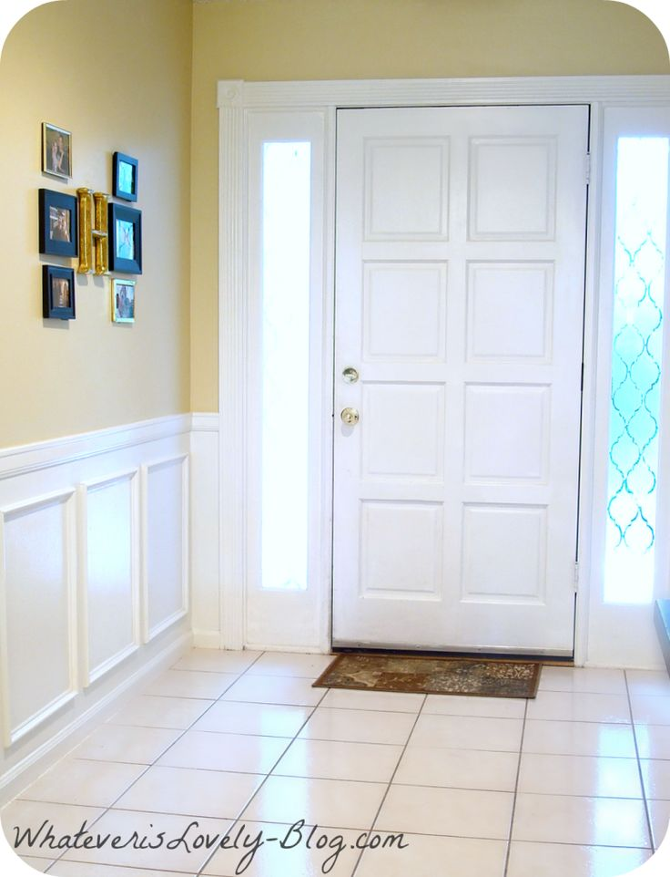 DIY Faux Wainscoting Using Inexpensive Molding From Home Depot And White Paint