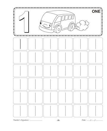 Number Writing 1 Sheet