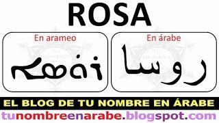 Como se escribe el nombre de Rosa en Arameo